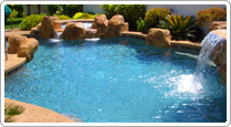 Beautiful swimming pool renovated by Desert Springs Renovations